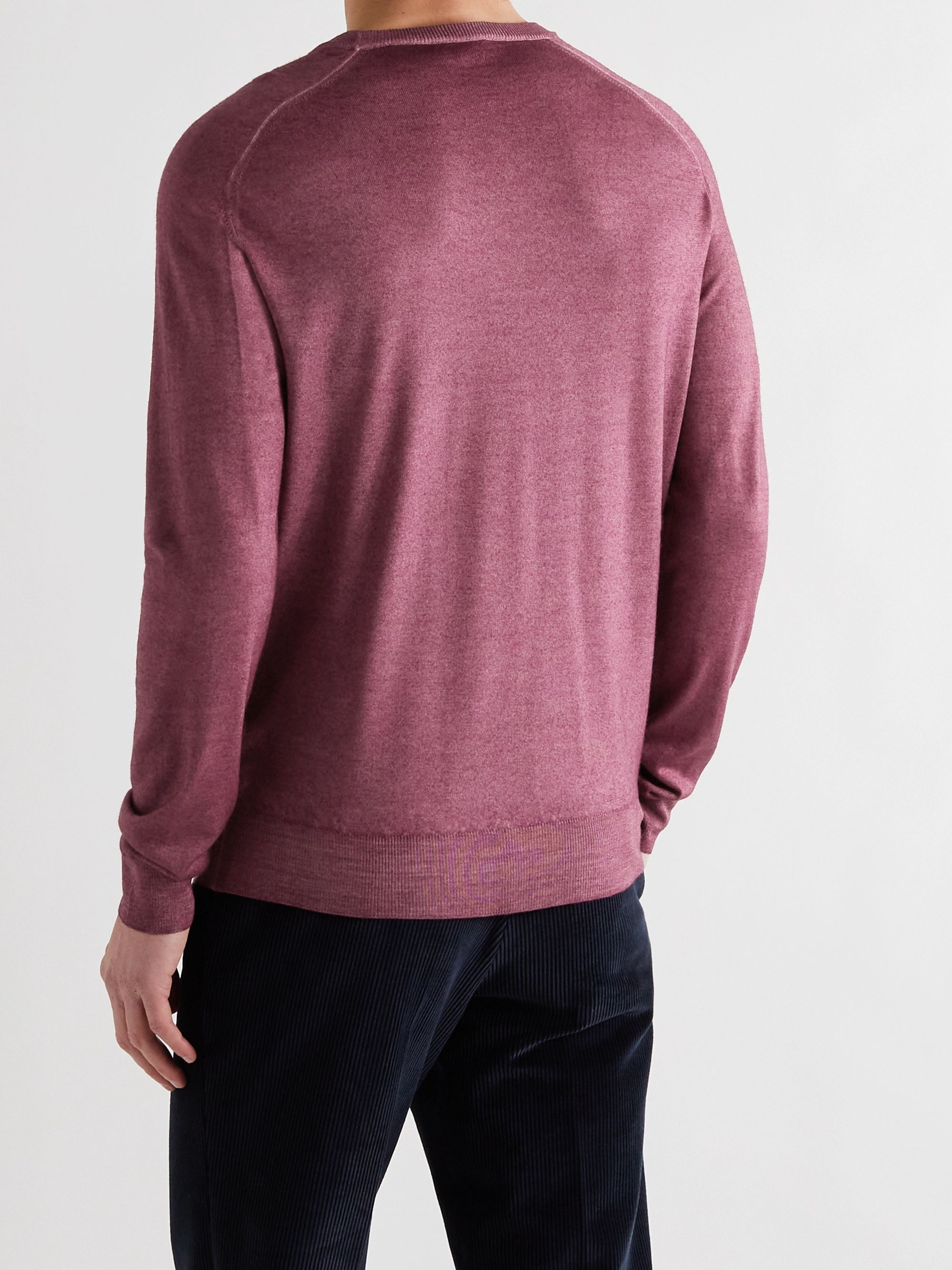 ETRO Slim-Fit Mélange Wool Sweater