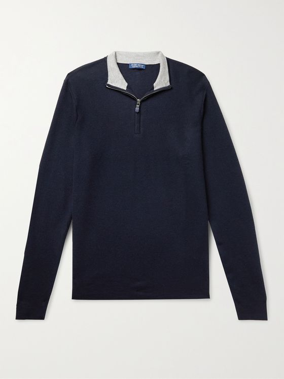 PETER MILLAR Victory Slim-Fit Cashmere-Blend Half-Zip Sweater