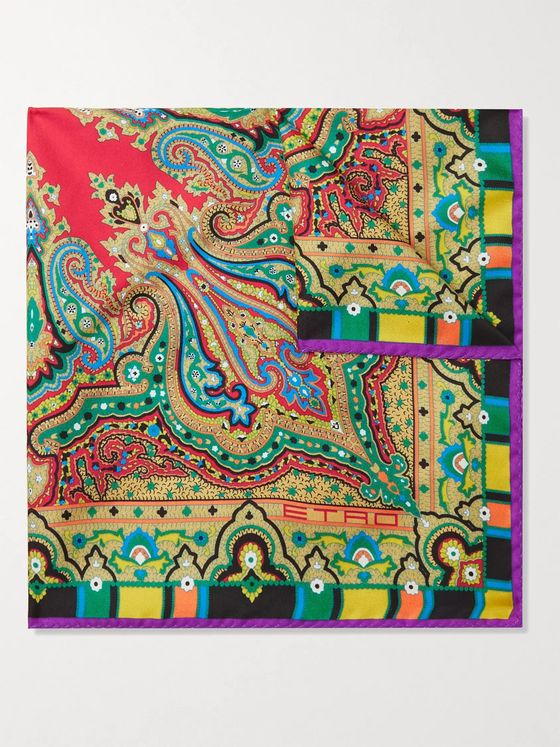 ETRO Paisley-Print Silk-Twill Pocket Square