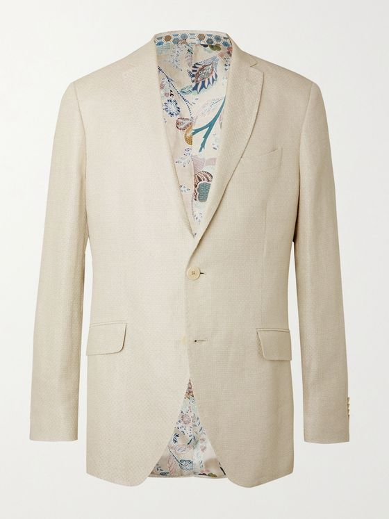 ETRO Linen and Hemp-Blend Blazer