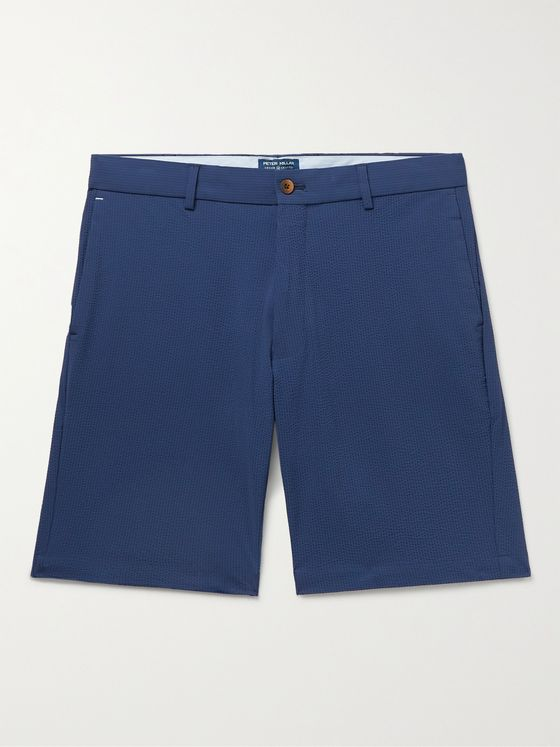 PETER MILLAR Matlock Slim-Fit Cotton-Blend Seersucker Shorts