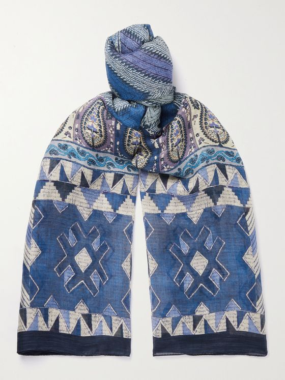 ETRO Printed Cotton Scarf