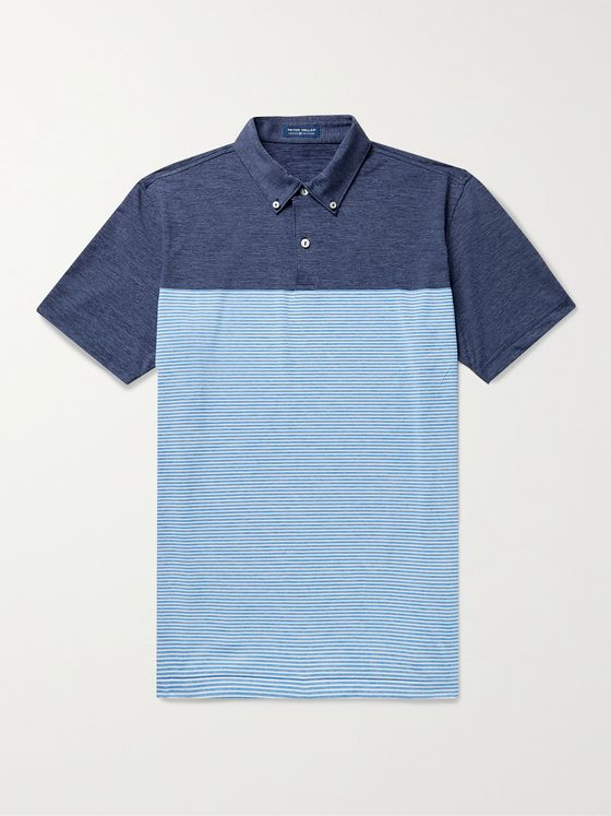 PETER MILLAR Doxy Slim-Fit Striped Stretch-Jersey Polo Shirt