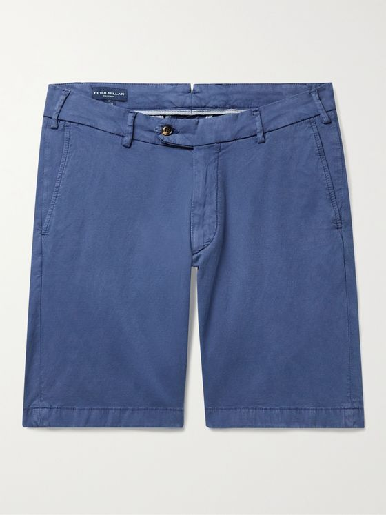 PETER MILLAR Wayfare Slim-Fit Stretch TENCEL Lyocell and Cotton-Blend Shorts