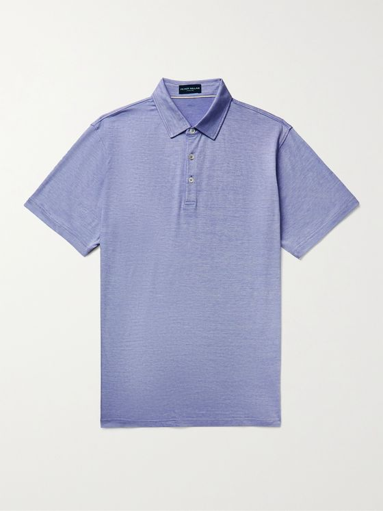 PETER MILLAR Excursionist Flex Stretch Cotton and Modal-Blend Jersey Polo Shirt