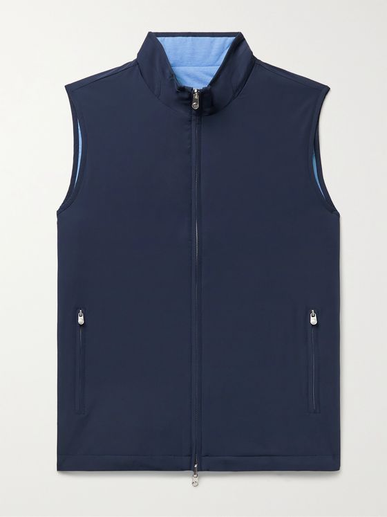 PETER MILLAR Crown Reversible Stretch-Shell and Quilted Cotton-Blend Gilet