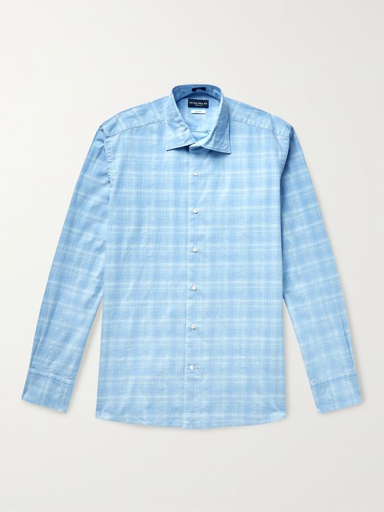 PETER MILLAR Checked Cotton Shirt