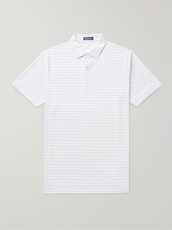 PETER MILLAR Wright Slim-Fit Striped Stretch-Jersey Polo Shirt