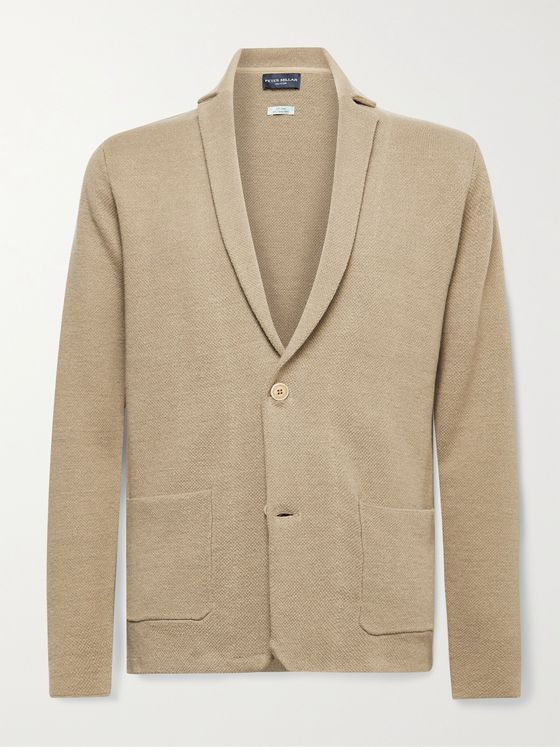 PETER MILLAR Concorde Slim-Fit Linen and Merino Wool-Blend Cardigan