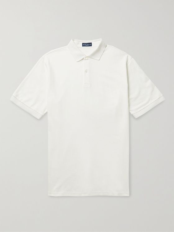 PETER MILLAR Villa Slim-Fit Stretch Linen, Lyocell and Cotton-Blend Polo Shirt