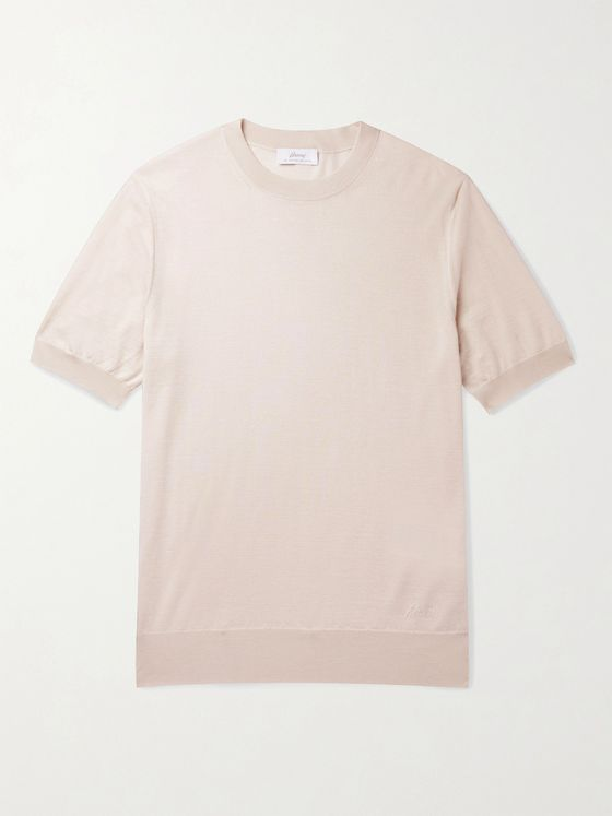BRIONI Cashmere and Silk-Blend T-Shirt