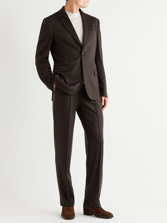 BRIONI Virgin Wool and Cashmere-Blend Suit Jacket