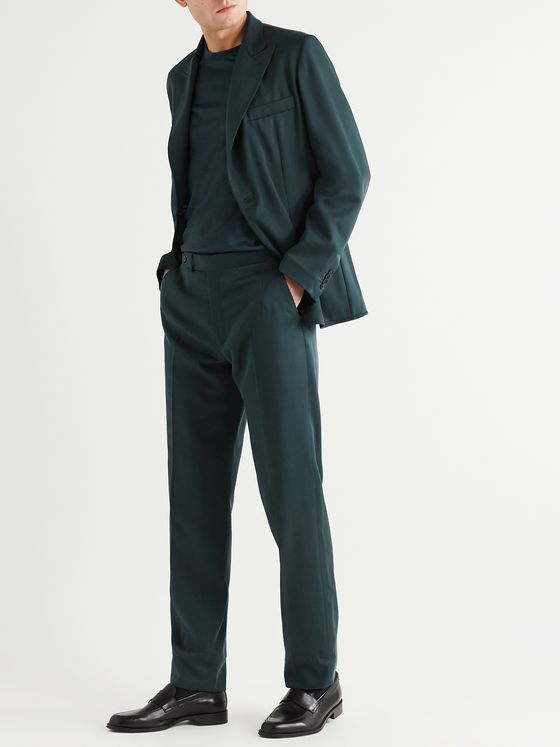 BRIONI Slim-Fit Silk-Twill Suit Trousers
