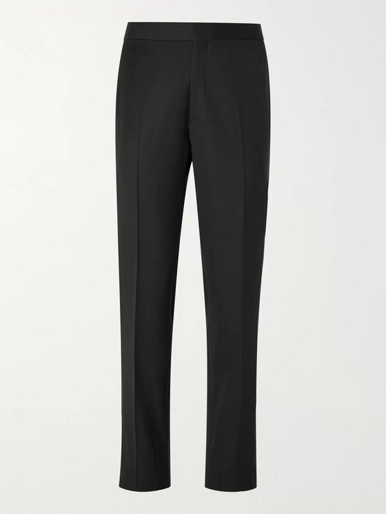 Brioni Slim-Fit Wool Tuxedo Trousers