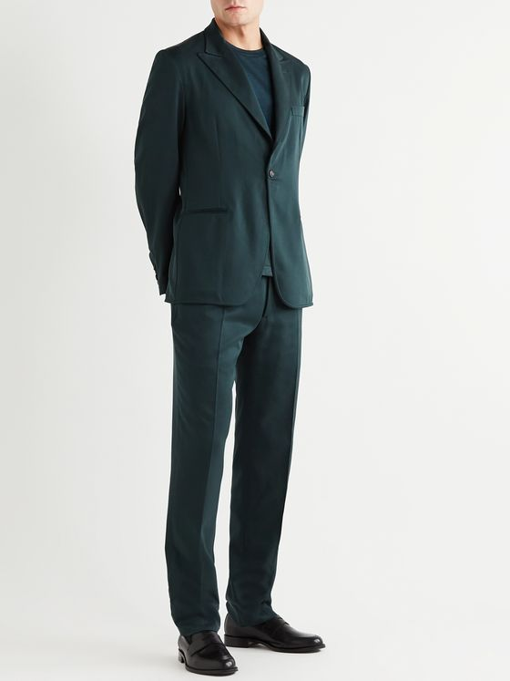 BRIONI Unstructured Silk-Twill Suit Jacket