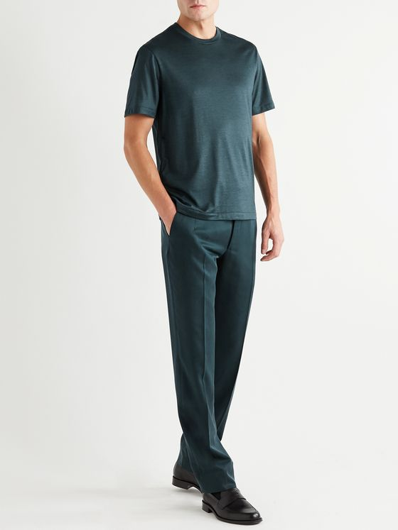 BRIONI Cashmere and Silk-Blend Jersey T-Shirt