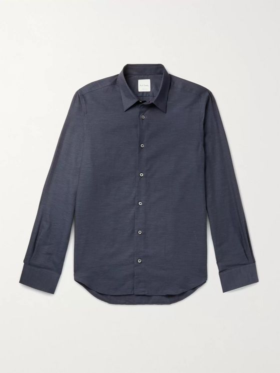 PAUL SMITH Slim-Fit Herringbone Cotton Shirt