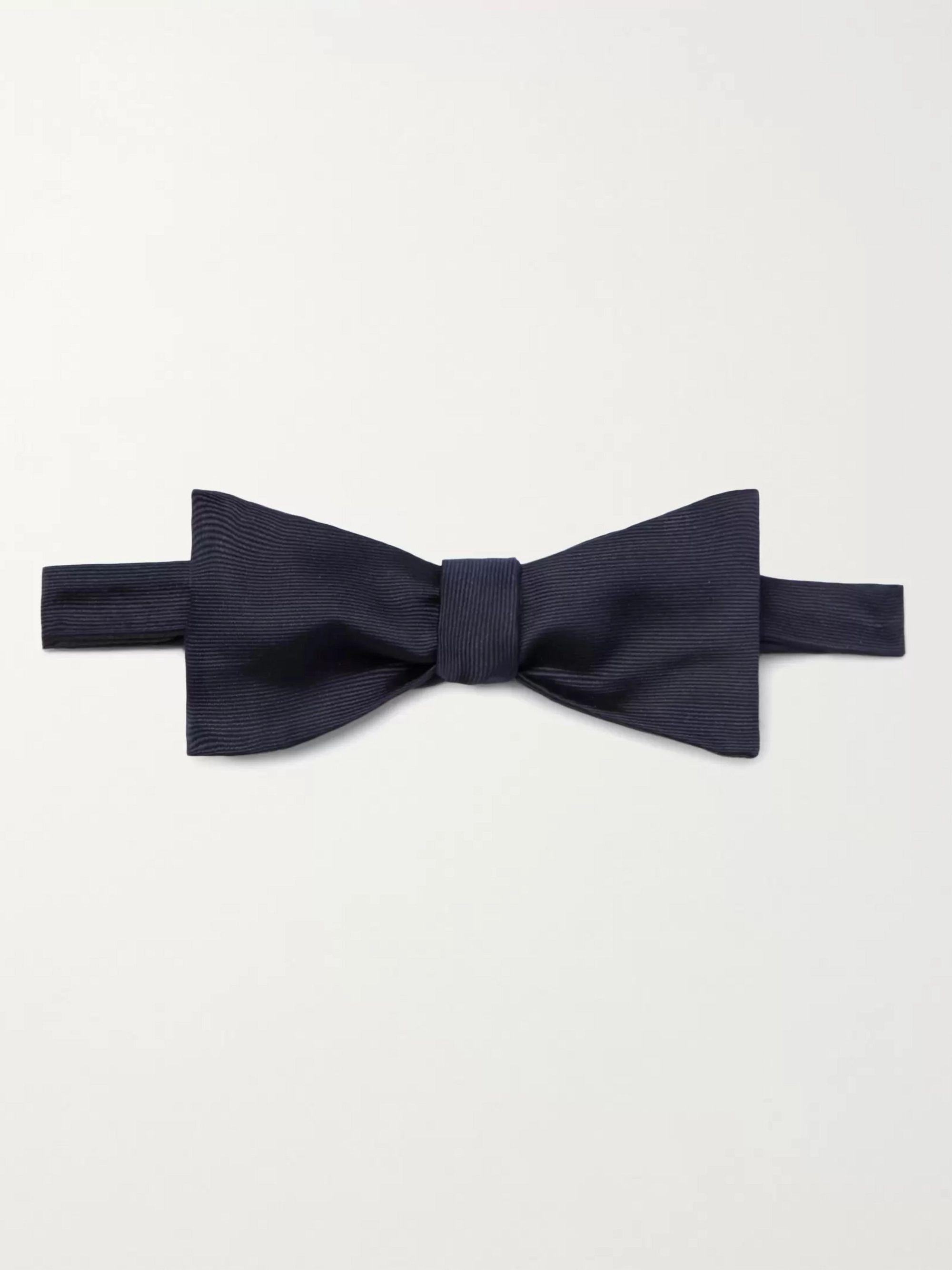 폴 스미스 Paul Smith Self-Tie Silk-Grosgrain Bow Tie,Midnight blue