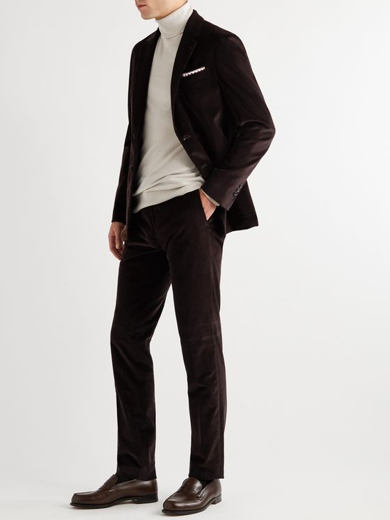 PAUL SMITH Stretch-Cotton Corduroy Suit Trousers