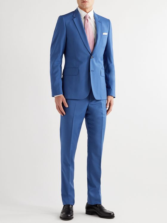 PAUL SMITH Wool and Mohair-Blend Suit Trousers