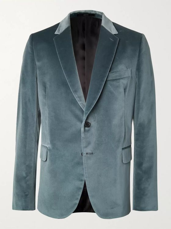 PAUL SMITH Cotton-Velvet Tuxedo Jacket
