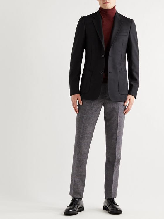 PAUL SMITH Slim-Fit Prince of Wales Checked Wool Trousers