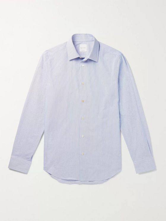 PAUL SMITH Slim-Fit Pinstriped Cotton Shirt