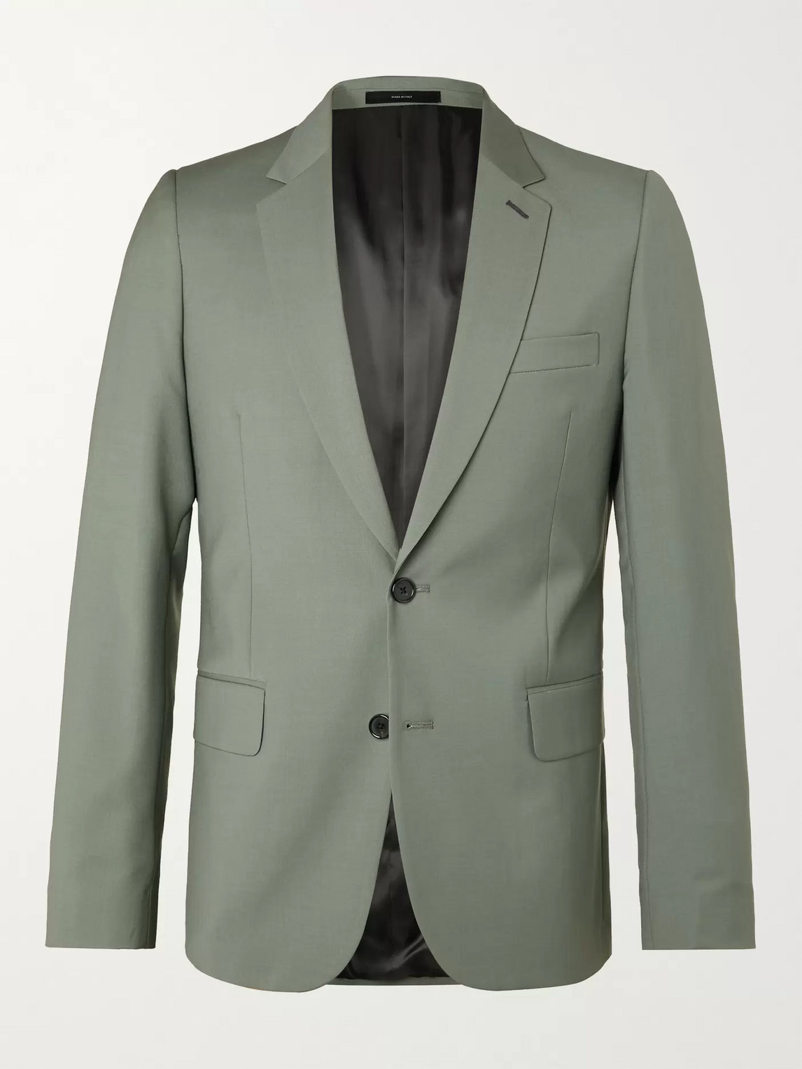 Paul Smith Slim-fit Wool And Mohair-blend Suit Jacket In Green