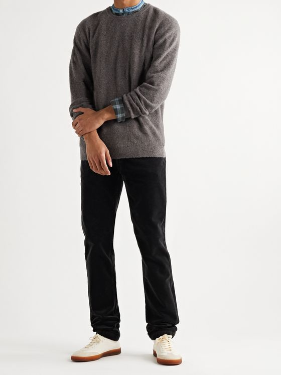 Massimo Alba Kane Mélange Brushed Cashmere Sweater