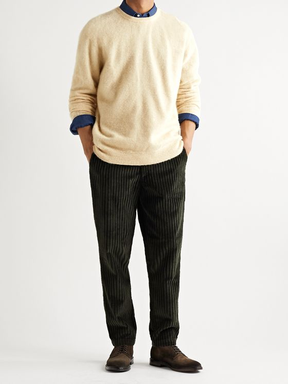 MASSIMO ALBA Kane Brushed Cashmere Sweater