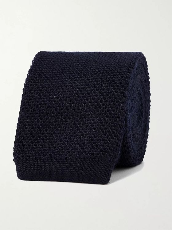 BRIONI 6cm Knitted Cashmere and Silk-Blend Tie