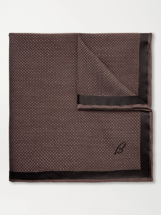 BRIONI Silk-Jacquard Pocket Square