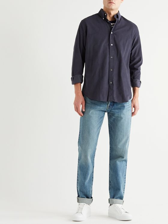 PAUL SMITH Button-Down Collar Cotton-Corduroy Shirt