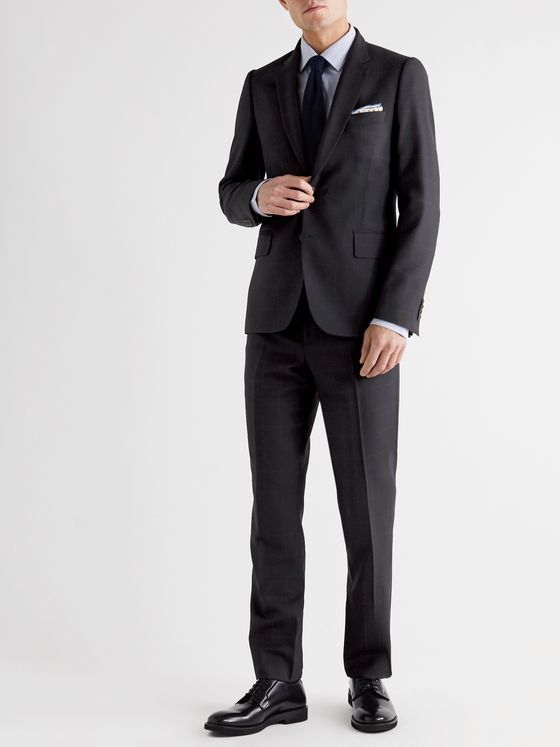 PAUL SMITH Slim-Fit Checked Birdseye Wool Suit Trousers
