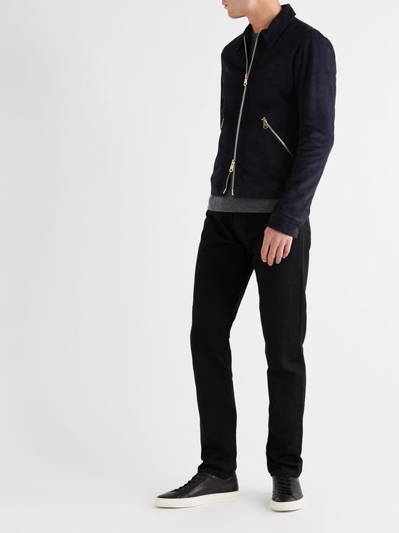 PAUL SMITH Slim-Fit Suede Blouson Jacket