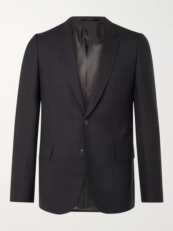 PAUL SMITH Slim-Fit Checked Birdseye Wool Suit Jacket