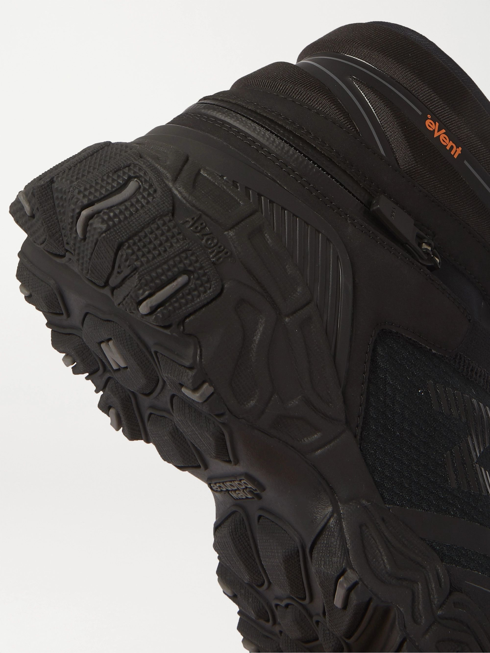 NEW BALANCE + Snow Peak Tokyo Design Studio Nobium Suede and Rubber-Trimmed Mesh 3-in-1 Boots