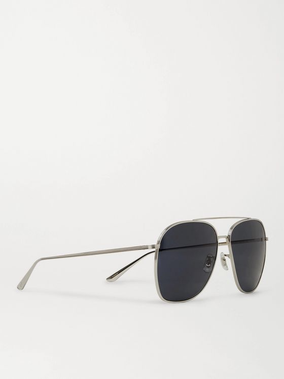 THE ROW + Oliver Peoples Ellerston Aviator-Style Titanium Sunglasses