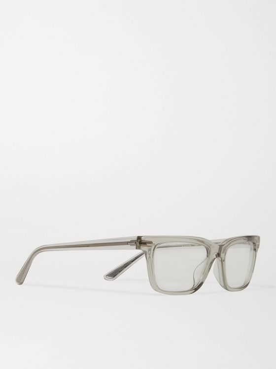 THE ROW + Oliver Peoples Square-Frame Acetate Optical Glasses