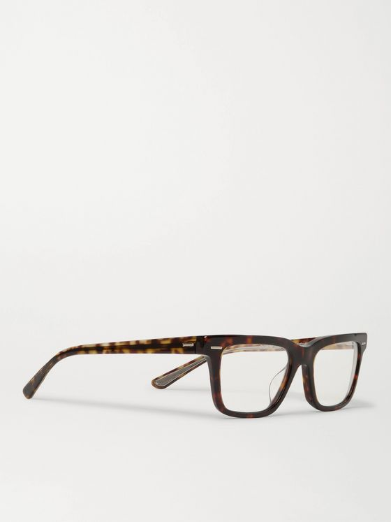THE ROW + Oliver Peoples Square-Frame Tortoiseshell Acetate Optical Glasses