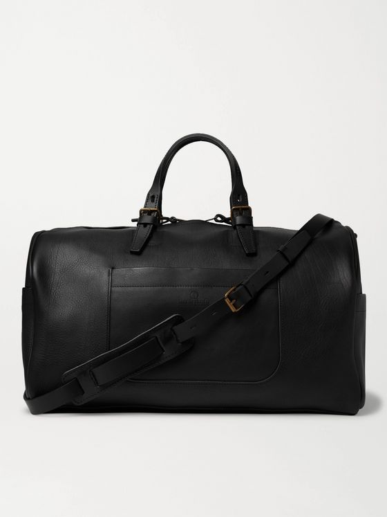 BLEU DE CHAUFFE Hobo Full-Grain Leather Holdall