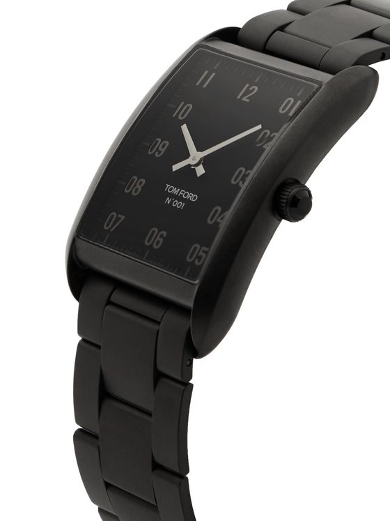 TOM FORD TIMEPIECES 001 DLC-Coated Stainless Steel Watch