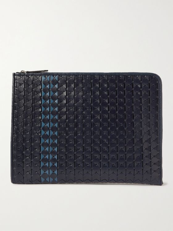 Serapian Woven Leather Document Holder
