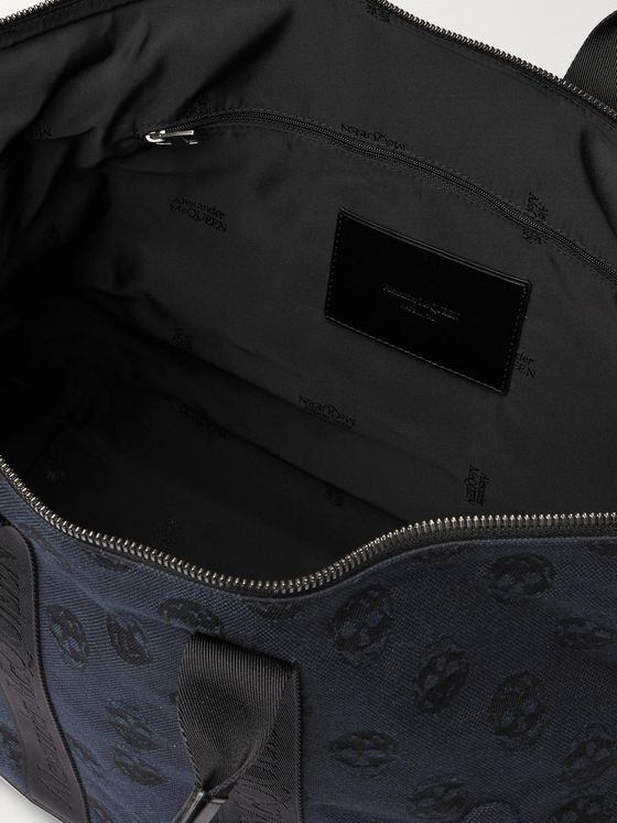 ALEXANDER MCQUEEN Leather-Panelled Logo-Jacquard Canvas Holdall