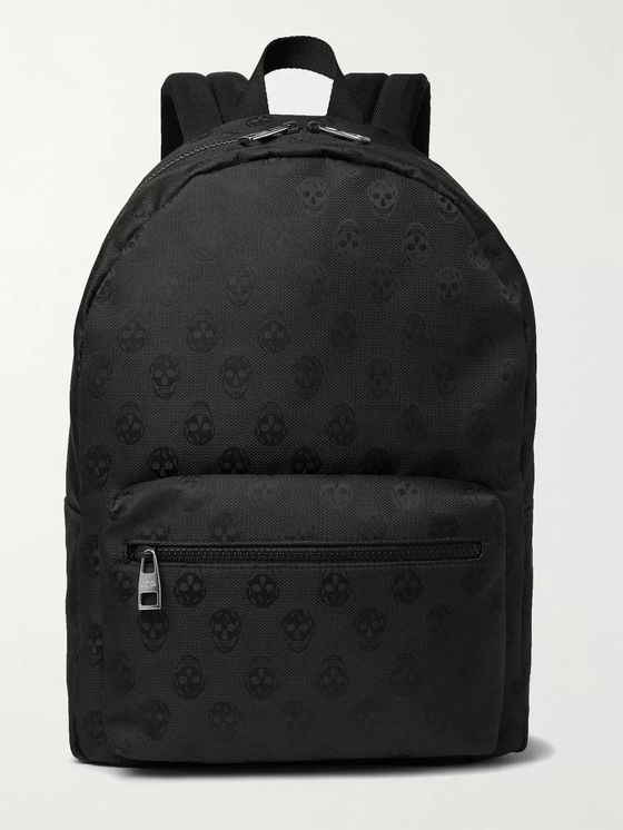 ALEXANDER MCQUEEN Metropolitan Logo-Jacquard Leather-Trimmed Nylon Backpack