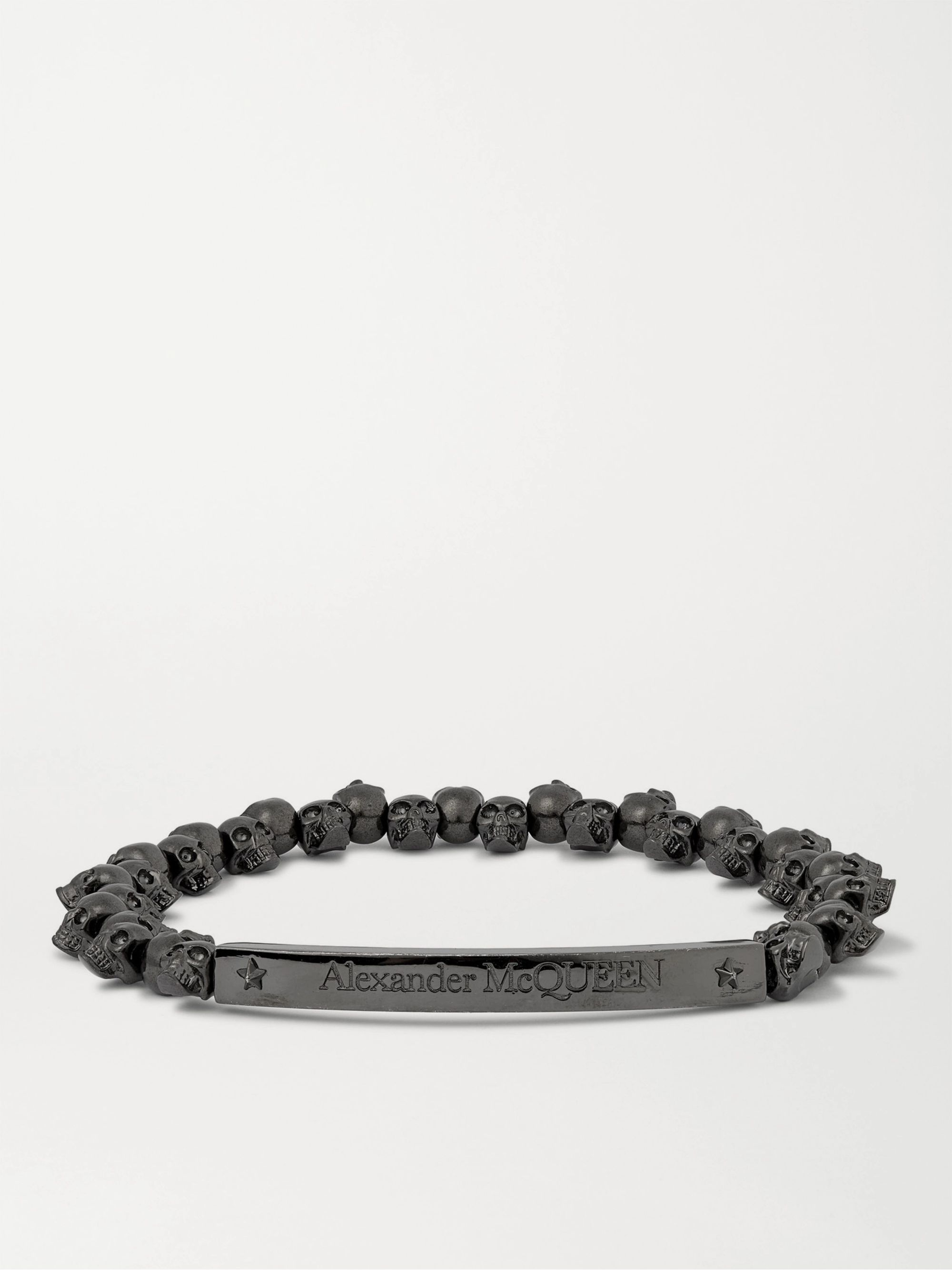 알렉산더 맥퀸 팔찌 Alexander McQueen Gunmetal-Tone Bracelet,Black