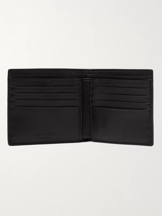 ALEXANDER MCQUEEN Logo-Appliquéd Croc-Effect Leather Billfold Wallet