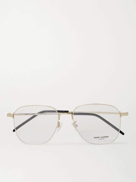 SAINT LAURENT Round-Frame Gold-Tone Optical Glasses