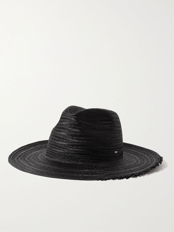 SAINT LAURENT Straw Fedora Hat