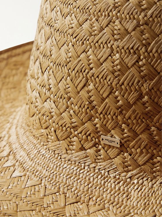 SAINT LAURENT Woven Straw Fedora